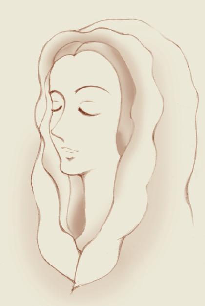 鉛筆で描いたマリア様
