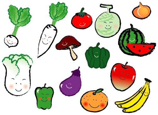 にこにこ顔の野菜たち
